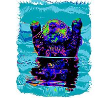 PSYCHEDLIC SEA OTTER Photographic Print