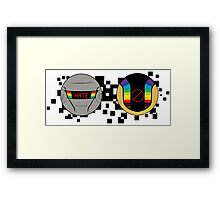 Daft Punk Emote Hate Framed Print