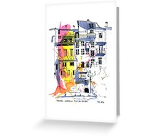 Maisons Suspendu Greeting Card