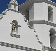 Patron & Bell Tower, San Luis Rey by Robert Arconti