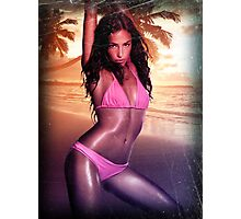 Cute girl bikini summer sexy hot fresh hair swag eyes dope trend trending satan spring nice fresh girl woman teen birthday cake panties wings devil hipster Nightlife girl eye woman wedding party Photographic Print