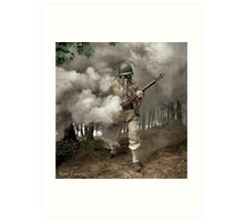 Gas Mask Soldier, Fort Belvoir Virginia 1942 Art Print