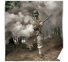 Gas Mask Soldier, Fort Belvoir Virginia 1942 Poster