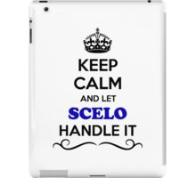 Keep Calm and Let SCELO Handle it iPad Case/Skin