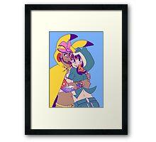 Pokecosplay - Pikachu x Snorlax Framed Print