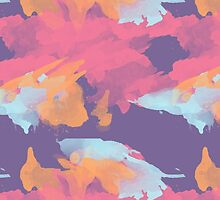 Pink Gold and Purple Abstract Pattern by Greenbaby