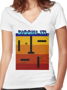Diggin' It!  Women's Fitted V-Neck T-Shirt