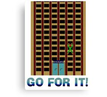 Go For It! Canvas Print