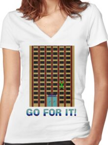 Go For It! Women's Fitted V-Neck T-Shirt