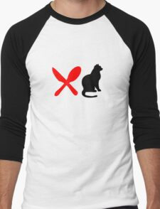 HUNGRY CAT  Men's Baseball ¾ T-Shirt