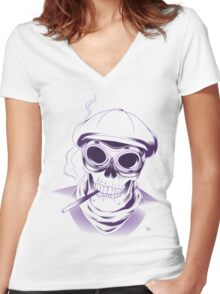 Everybody loses in the end Women's Fitted V-Neck T-Shirt
