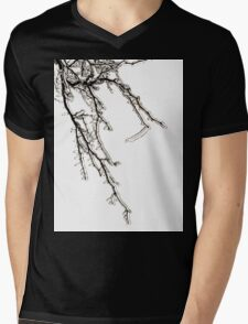 Ice on Branches Mens V-Neck T-Shirt