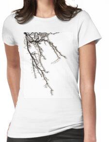 Ice on Branches Womens Fitted T-Shirt