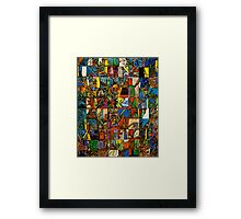 Pieces Placed Framed Print