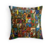 Pieces Placed Throw Pillow