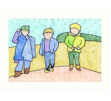 Three boys Art Print