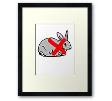 NO PLACE FOR  RABBIT  Framed Print