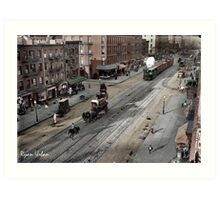NYC 11th Ave circa 1909 Art Print