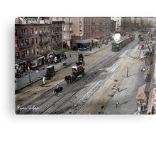 NYC 11th Ave circa 1909 Metal Print