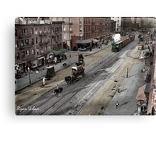 NYC 11th Ave circa 1909 Canvas Print