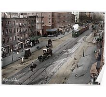 NYC 11th Ave circa 1909 Poster