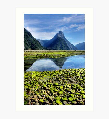 Mitre Peak,- Milford Sound, New Zealand Art Print
