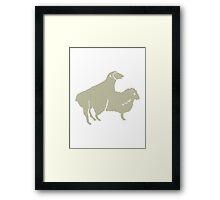 SHEEP COUPLE  SHAPE ANIMAL Framed Print
