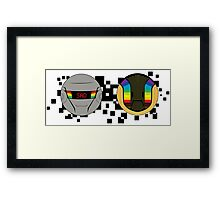 Daft Punk Emote Sad Framed Print