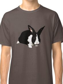 BUNNY BLACK WHITE RABBIT Classic T-Shirt