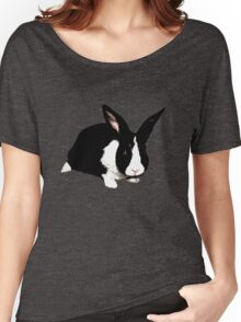 BUNNY BLACK WHITE RABBIT Women's Relaxed Fit T-Shirt