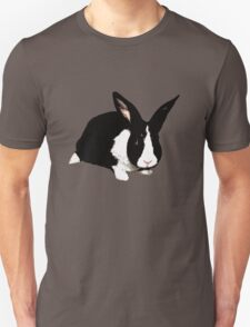 BUNNY BLACK WHITE RABBIT Unisex T-Shirt