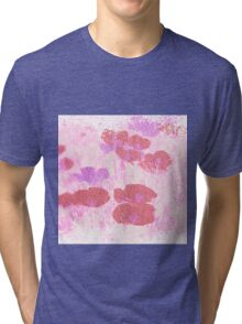 Painted Red Flowers Tri-blend T-Shirt