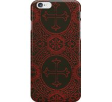 gothic cross stich iPhone Case/Skin