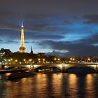Rainy Paris at Dusk by Bruce Alexander