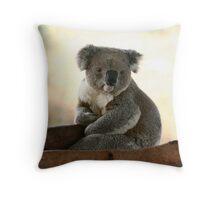 Koala wake up from sleep Throw Pillow