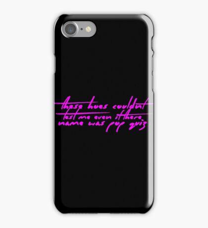 The Pinkprint: Only [Pop Quiz Lyric] iPhone Case/Skin