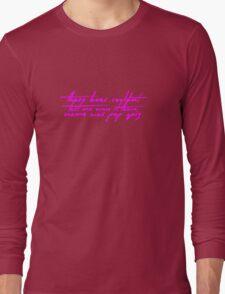 The Pinkprint: Only [Pop Quiz Lyric] Long Sleeve T-Shirt