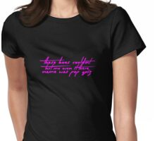 The Pinkprint: Only [Pop Quiz Lyric] Womens Fitted T-Shirt
