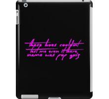 The Pinkprint: Only [Pop Quiz Lyric] iPad Case/Skin