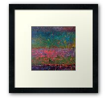 Abstract Landscape Series - Wildflowers Framed Print