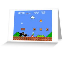 Super Mario Bros - It's Better With Batman Greeting Card