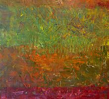 Abstract Landscape Series - Fallen Leaves by Michelle Calkins