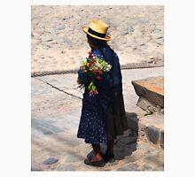Peruvian Woman Holding Flowers in Ollantaytambo Unisex T-Shirt