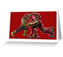 Hulk Buster v Hulk Greeting Card