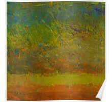 Abstract Landscape Series - Golden Dawn Poster