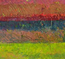 Abstract Landscape Series - Lake And Hills by Michelle Calkins