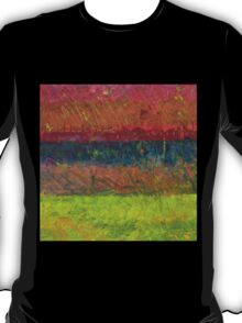 Abstract Landscape Series - Lake And Hills T-Shirt
