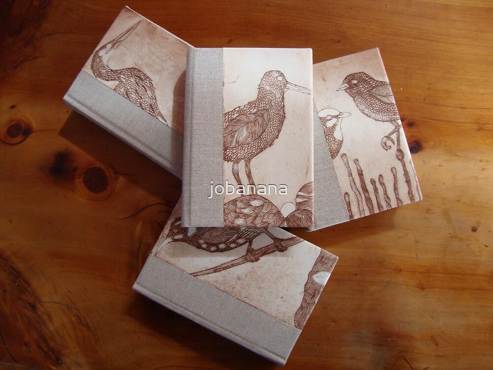 Set of 4 hand bound journals by jobanana