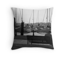 Thoughts By The Water Throw Pillow