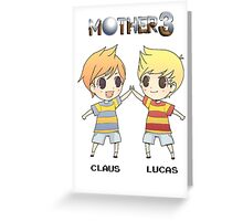 Mother 3/ Earthbound 2 Chibis Greeting Card